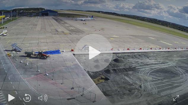 kamera lotnisko gdańsk