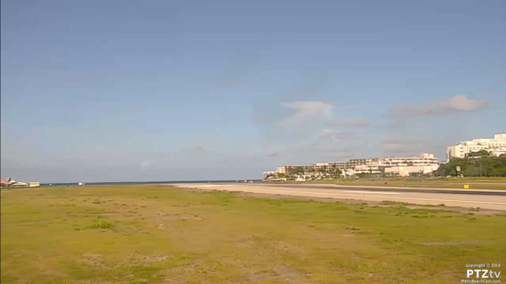kamera na lotnisku Maho Beach