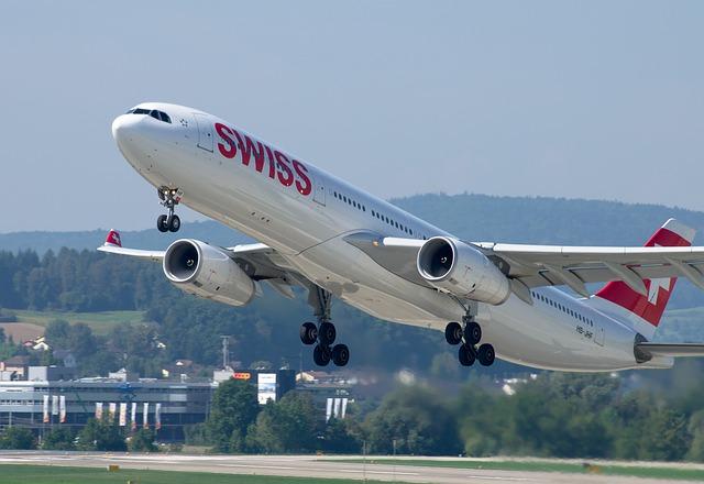 Airbus A300 należący do lini lotniczej SWISS