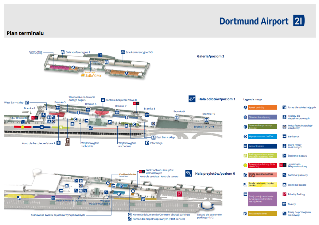 plan terminalu - lotnisko Dortmund