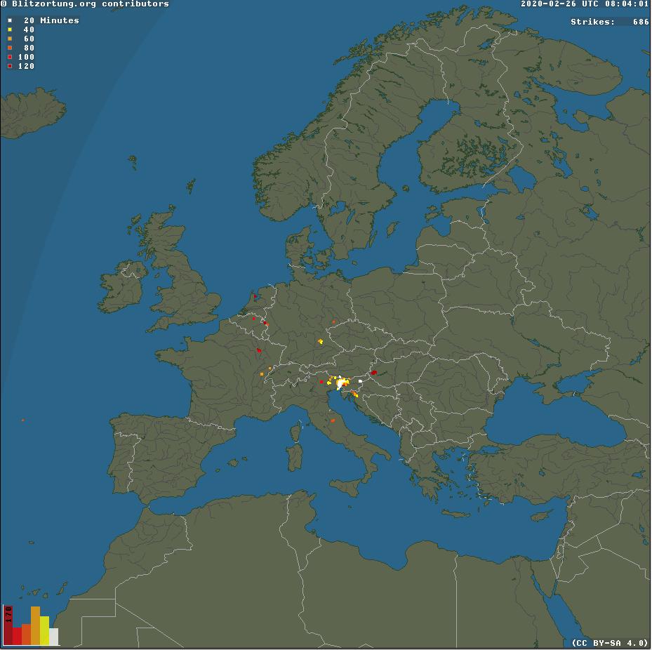radar burz blitz Polska i Europa
